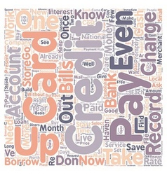 MIS 3 text background wordcloud concept vector image vector image