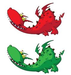 nice dragon vector image vector image