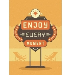 Retro sign billboard typographic quote poster vector