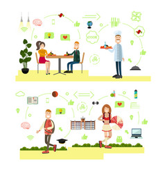 School concept in flat style vector