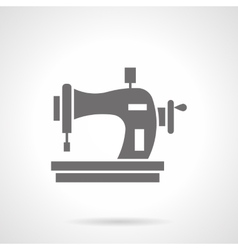 Sewing machine with spool glyph style icon vector image vector image