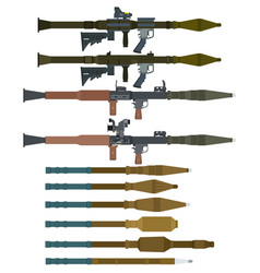 soviet rocket launchers and grenades for rpg-7 vector image