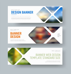 template of horizontal standard banners with vector image