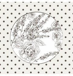 Vintage Floral Invitation card wreath vector image