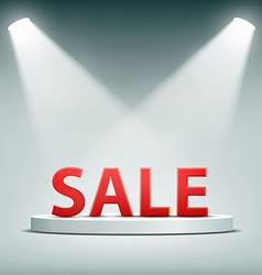 Word sale Stock vector image vector image
