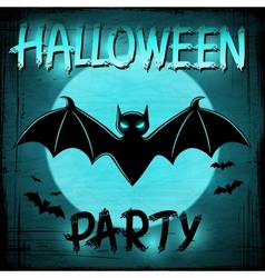 EPS 10 Halloween background with moon and bats vector image