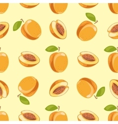 Peach seamless pattern yellow background vector