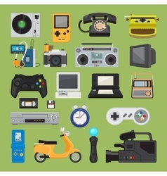 Hipster tech gadget icons vector