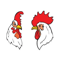 roosters head vector image