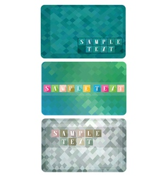 Three variants of gift cards vector