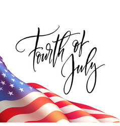 fourth of july independence day poster or card vector image