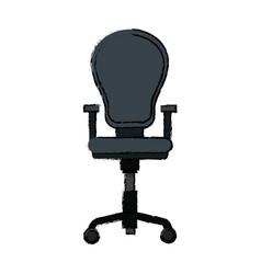Armchair office equipment seat furniture vector