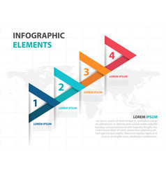 Abstract colorful arrow business infographics vector