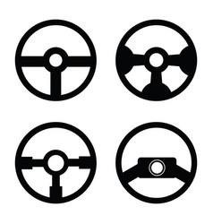 Steering wheel icon set vector