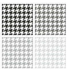 Houndstooth seamless grey black and white pattern vector