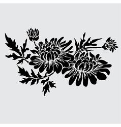 Decorative chrysanthemum vector