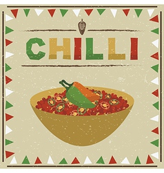 mexican chilli vector image