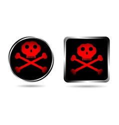 Jolly roger buttons vector