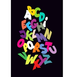 Bright abstract comic font alphabet vector