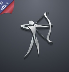 Archery icon symbol 3d style trendy modern design vector