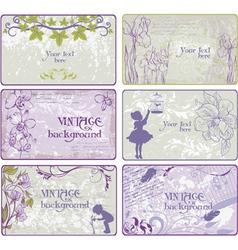 Set of vintage backgrounds vector image