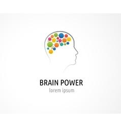 Brain Creative mind man head learning icons vector image