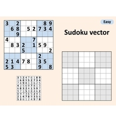 Symmetrical Sudoku with answers vector image