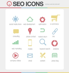 Seo google like icons set volume 1 vector
