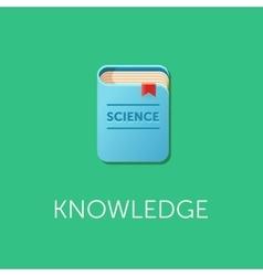 Scientific knowledge science book design vector