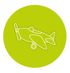 Airplane toy isolated icon vector