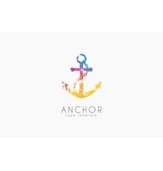 Anchor logo Rainbow logo Company logo Colorful vector image vector image