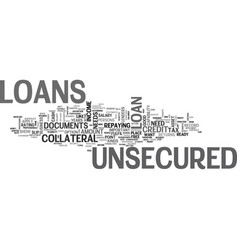 Are you ready for an unsecured loan text word vector