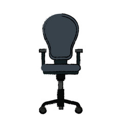 Armchair office equipment seat furniture vector