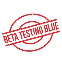 Beta Testing Blue rubber stamp vector image vector image