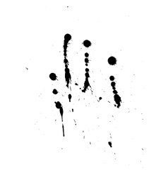 Black blobs with small and large drops vector image