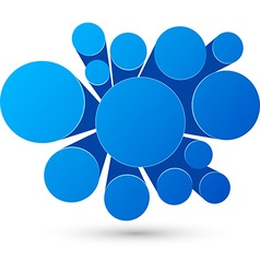 Bubble blue infographics design vector