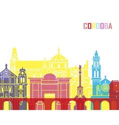 Cordoba skyline pop vector