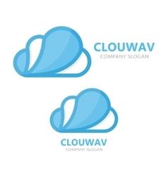Creative cloud logo design vector image