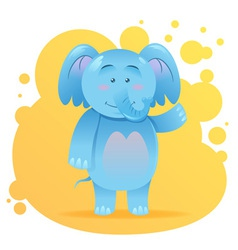 Cute cartoon elephant toy card vector image