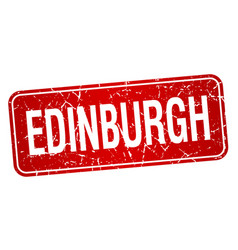 Edinburgh red stamp isolated on white background vector