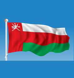 Flag of oman vector