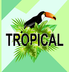 Geometric tropical background vector
