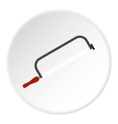 hacksaw for metal icon flat style vector image