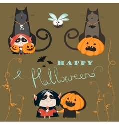 Halloween characters icon set vector image