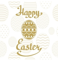 Happy easter background template vector
