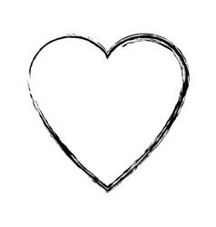 Heart love romance passion adorable symbol vector