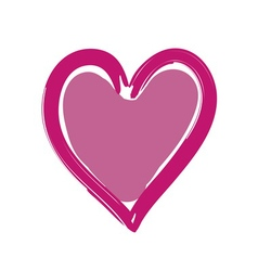 Heart pink bright icon sign vector image vector image