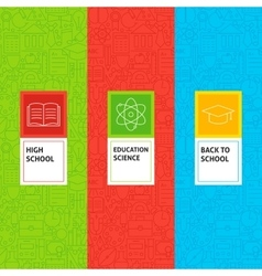 Line School Education Patterns Set vector image vector image