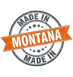 Montana orange grunge ribbon stamp on white vector