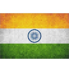 Mosaic Flag of India vector image